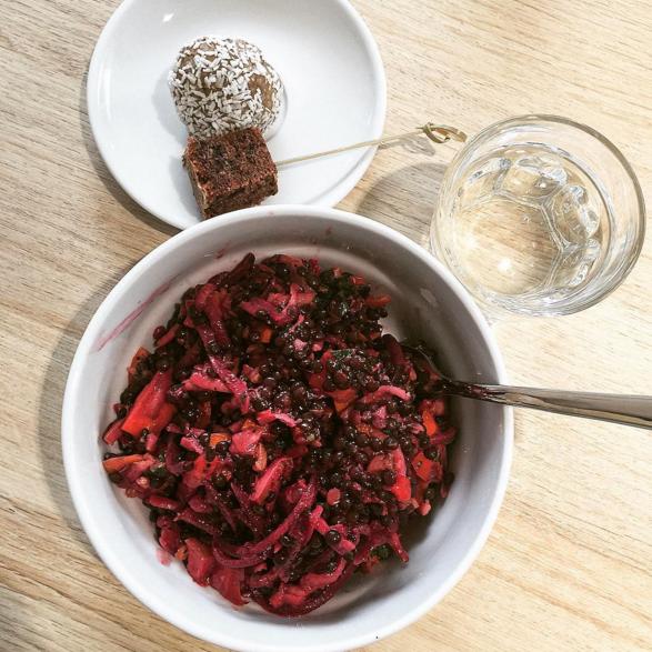 Lentil Salad with Energy Balls in Berlin
