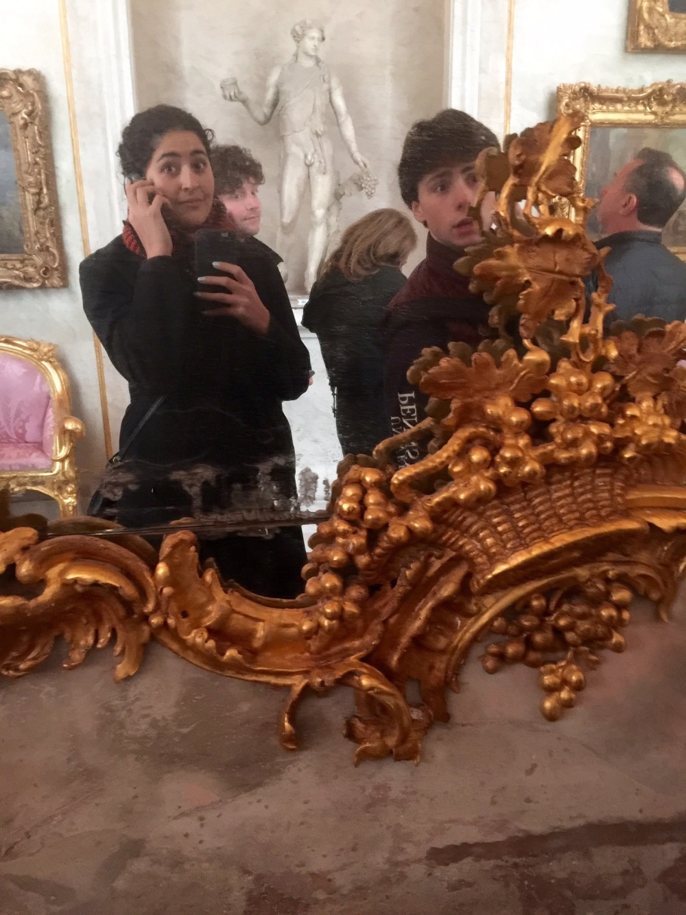 Mirror shot as we wander the castles at Potsdam with audio guides
