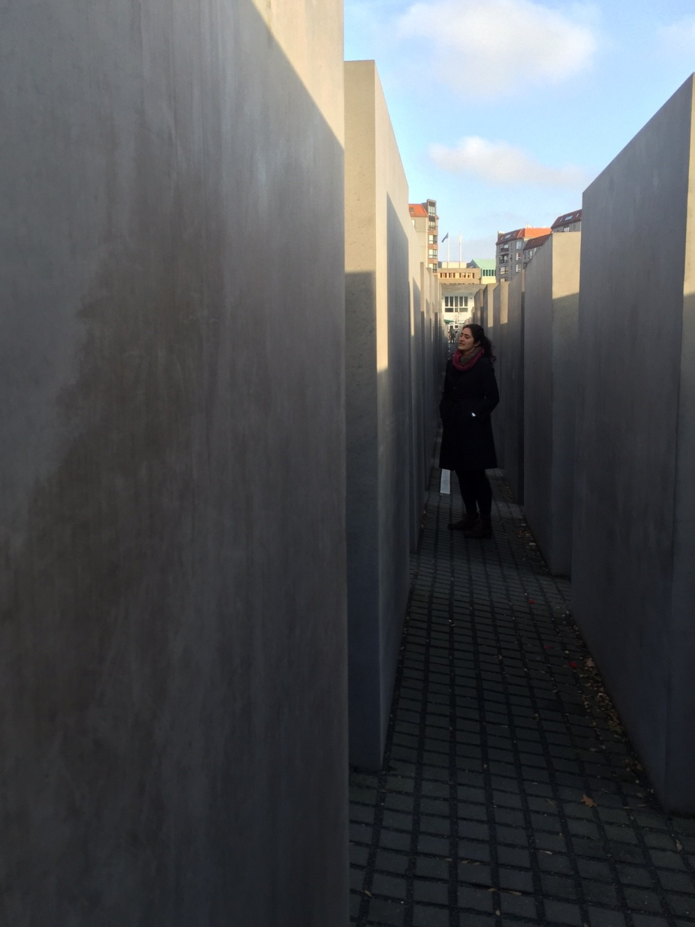 Wandering around the holocaust memorial