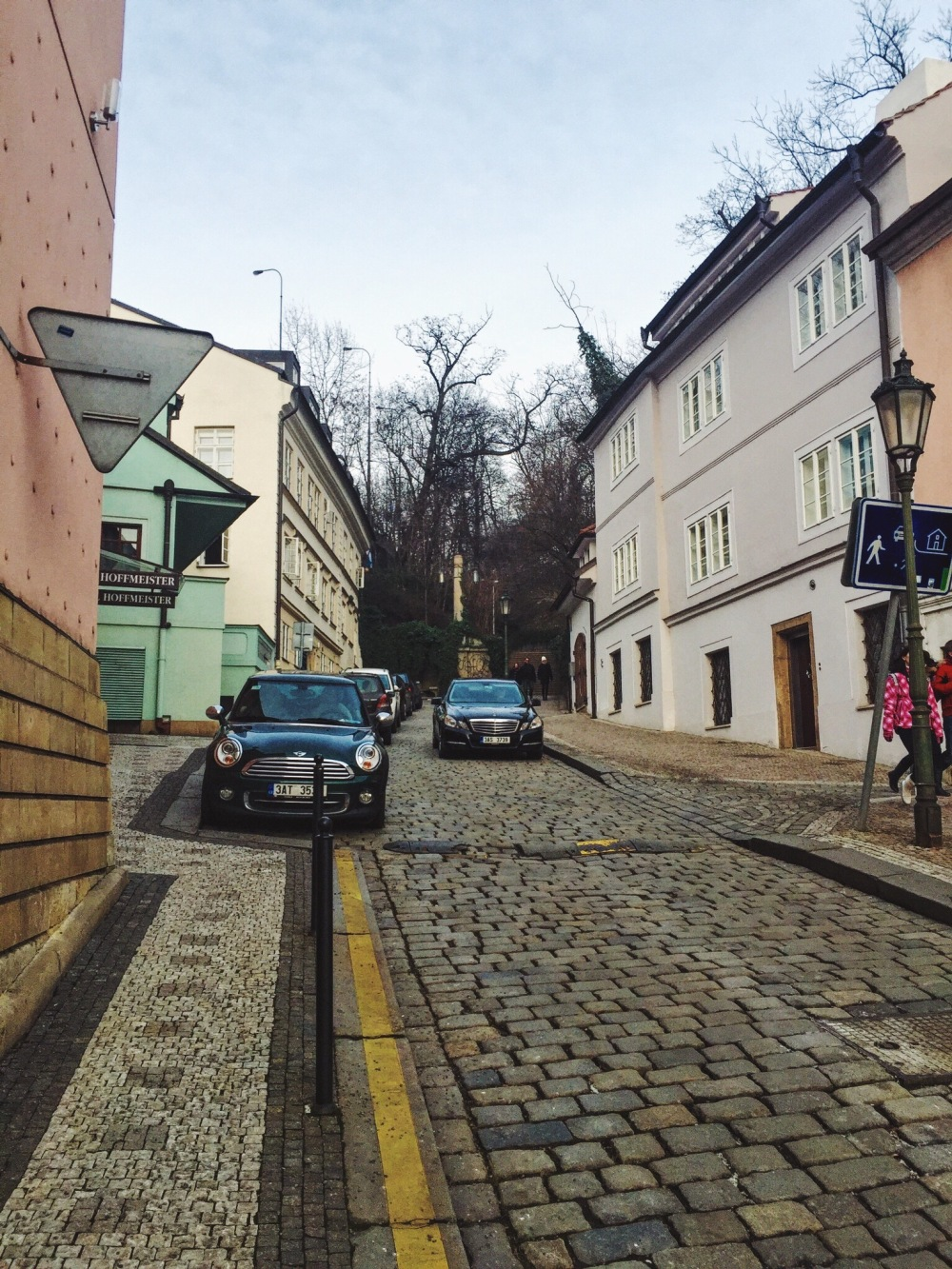 Streets across the Prague river