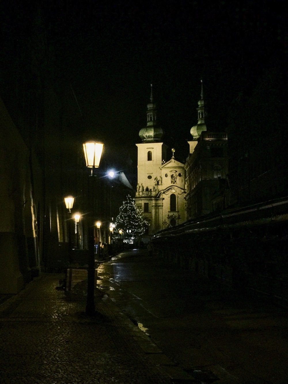Prague during the night