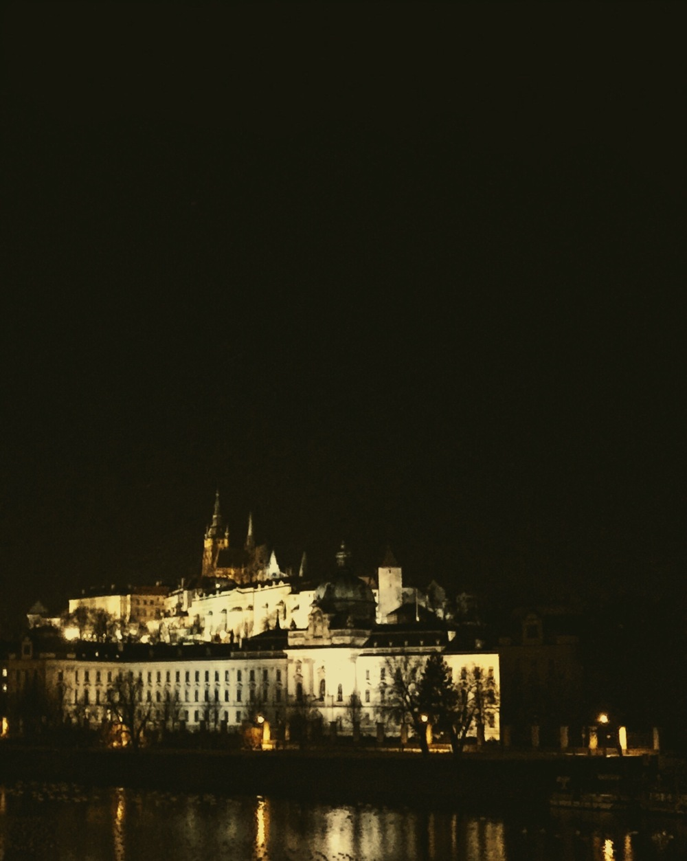 Prague Castle from across the river
